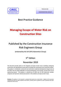 Managing Escape of Water Risk on Construction Sites